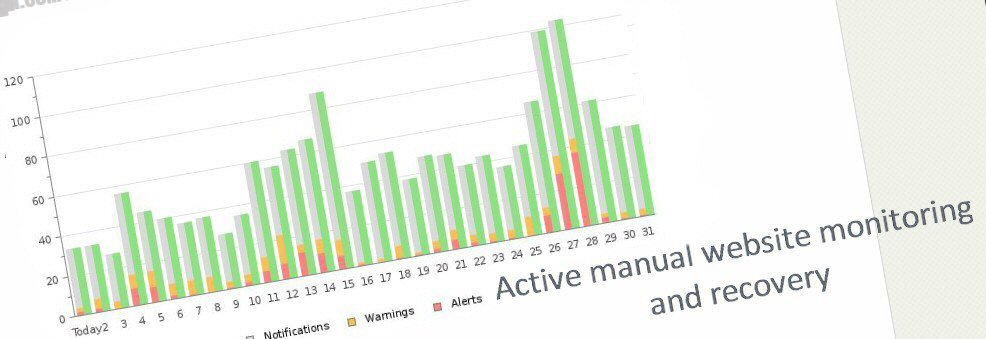 Active manual WordPress website monitoring and recorvery